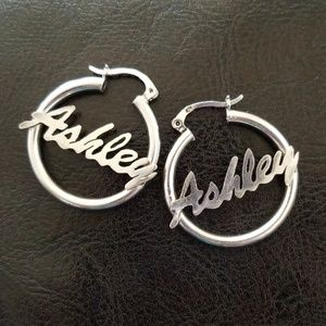 Jewelry - White gold hoop earrings